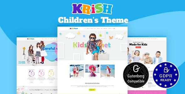 Krish | Nursery School, Pre School Theme - Corporate WordPress
