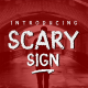 Scary Sign - GraphicRiver Item for Sale