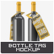 Bottleneck Hanger Tag Mock-Up - GraphicRiver Item for Sale