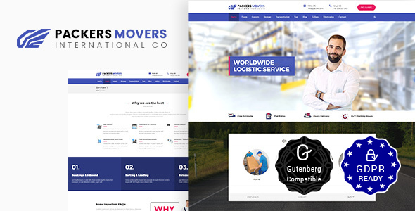 Packers & Movers | Logistics, Cargo WordPress Theme - Business Corporate