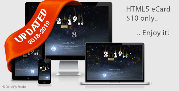 New Year Countdown Card v1 - CodeCanyon Item for Sale