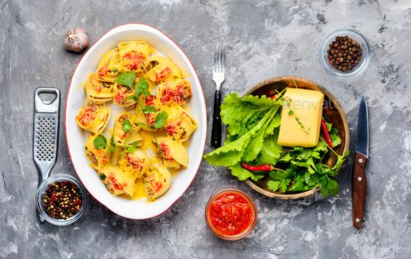 Italian style pasta - Stock Photo - Images