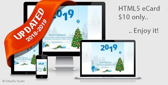 merry christmas happy new year card v1 codecanyon item for sale