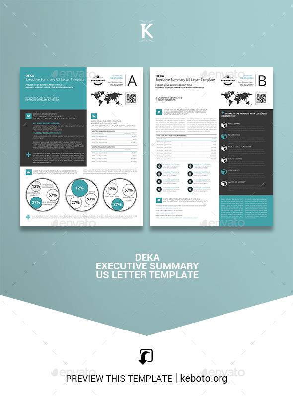 Deka Executive Summary US Letter Template - Miscellaneous Print Templates