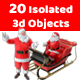 3D Realistic Santa Claus Pack - GraphicRiver Item for Sale