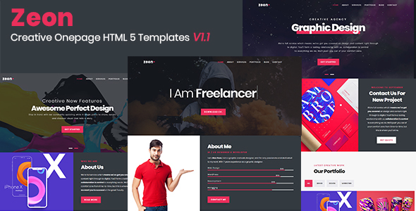 Zeon - Creative Onepage Template - Creative Site Templates