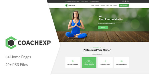 Coachexp - Coach Yoga and Mentor PSD Template