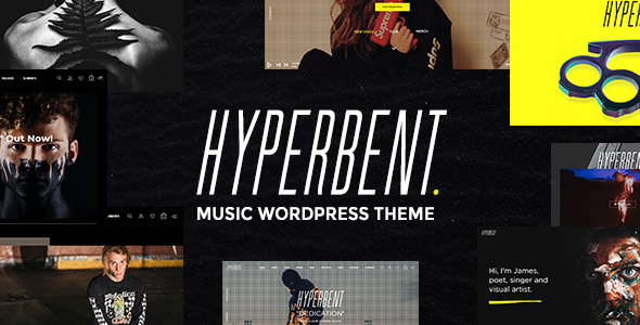 hyperbent - a modern music wordpress theme (music and bands) Hyperbent – A Modern Music WordPress Theme (Music and Bands) 01 Preview