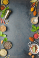 Herbs and spices on dark background - PhotoDune Item for Sale