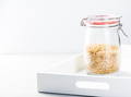 Rice in a Glass Jar - space for text - PhotoDune Item for Sale