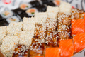 sushi and rolls large set close up view. - PhotoDune Item for Sale