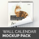 Free Download Large Wall Calendar Mockup Pack Nulled