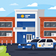 Free Download Police Station with Car in Working Day Nulled