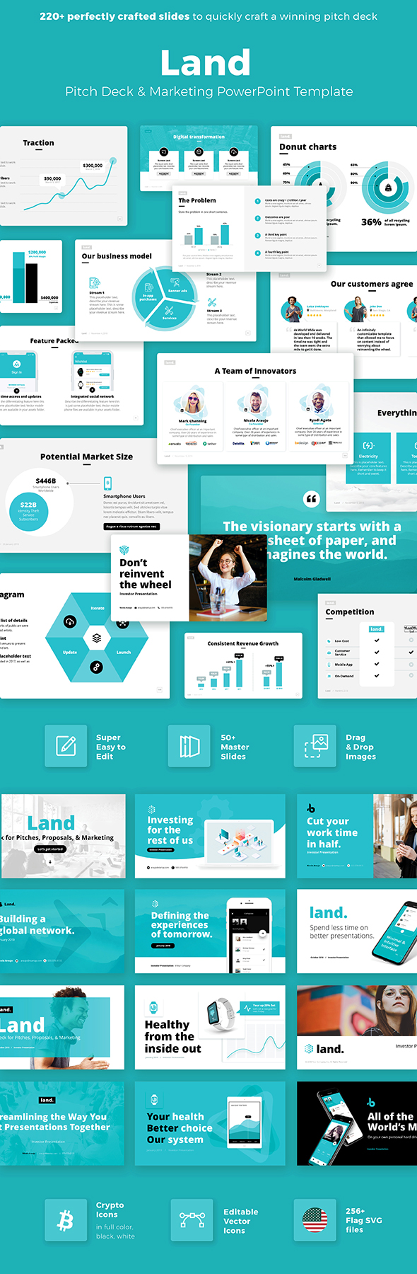 Investor Pitch Deck Powerpoint Template - PowerPoint Templates Presentation Templates
