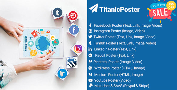 TitanicPoster - Start Growing Your Social Media Presence Now - CodeCanyon Item for Sale