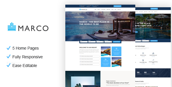 Marco - Resort and Hotel HTML Template - Travel Retail