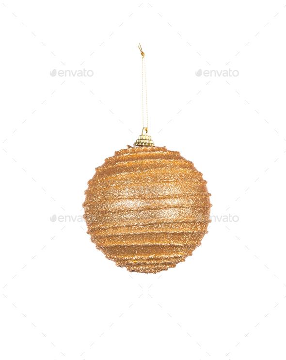 Goldish christmas ball. - Stock Photo - Images