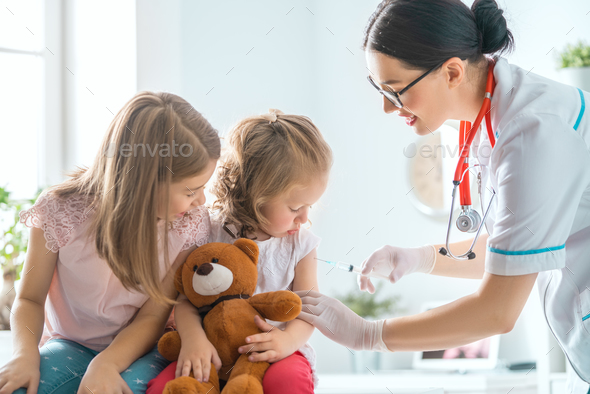 vaccination to a child - Stock Photo - Images