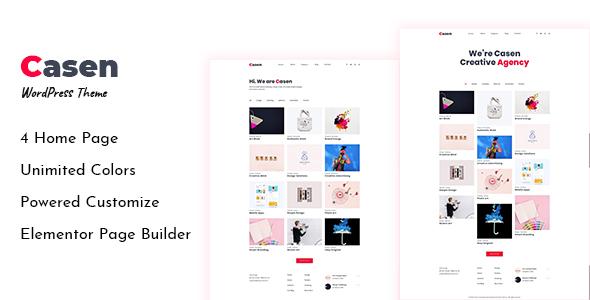 Casen – Minimal Portfolio WordPress Theme
