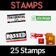 25 Customizable Rubber Stamps Vol 3 - GraphicRiver Item for Sale