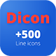 Dicon Line Icons - GraphicRiver Item for Sale