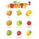 Vector Fruits Icon Set - GraphicRiver Item for Sale