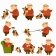Owner of Canine Pet, Senior Man Spending Time - GraphicRiver Item for Sale