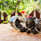 Fresh fruit in a jar on a wooden table - PhotoDune Item for Sale