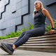 Fit Woman Doing Triceps Dips Outdoor in Modern City - PhotoDune Item for Sale