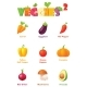 Vector Vegetables Icon Set - GraphicRiver Item for Sale