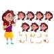Girl, Child, Kid, Teen Vector. Schoolchildren - GraphicRiver Item for Sale