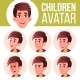 Boy Avatar Set Kid Vector. High School. Face - GraphicRiver Item for Sale