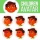 Boy Avatar Set Kid Vector. Indian, Hindu. Asian - GraphicRiver Item for Sale