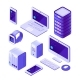 Mobile Devices Isometric Set - GraphicRiver Item for Sale