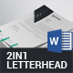 Letterhead Bundle - 2in1 - GraphicRiver Item for Sale