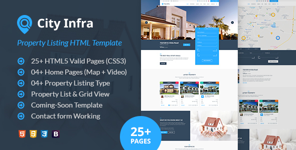 City Infra - Property Listing HTML Template by webstrot