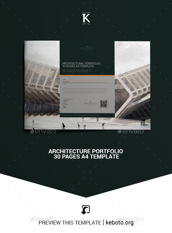 Architecture Portfolio 30 Pages A4 Template - Portfolio Brochures