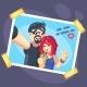 Couple Selfie - GraphicRiver Item for Sale