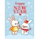 Hare and a Snowman Are Standing in a Snowy Glade - GraphicRiver Item for Sale