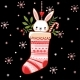 Bunny in a Christmas Sock - GraphicRiver Item for Sale