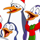 Caroling Penguins - GraphicRiver Item for Sale