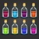 Set of Flasks with Different Poisons - GraphicRiver Item for Sale