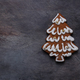 Gingerbread cookies tree on dark background, copyspace - PhotoDune Item for Sale