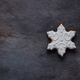 Gingerbread cookies snowflake on dark background, copyspace - PhotoDune Item for Sale