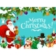 Santa with Christmas Gift Bag and Decorations - GraphicRiver Item for Sale