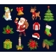 Christmas Characters and Holiday Vector Icons - GraphicRiver Item for Sale