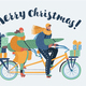 Family Couple Bicycle - GraphicRiver Item for Sale
