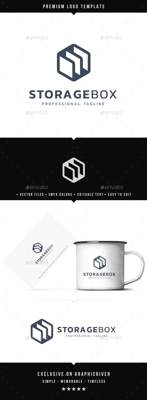 Storage Box Logo - Abstract Logo Templates