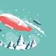 Airships Above Snowy Mountains - GraphicRiver Item for Sale