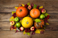 Thanksgiving centerpiece with orange and yellow pumpkins - PhotoDune Item for Sale